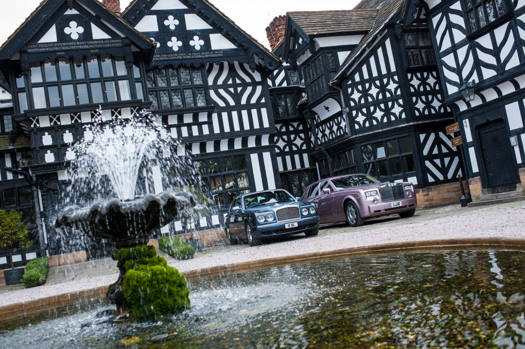Hillbark Hotel Entrance with Rolls Royces parked