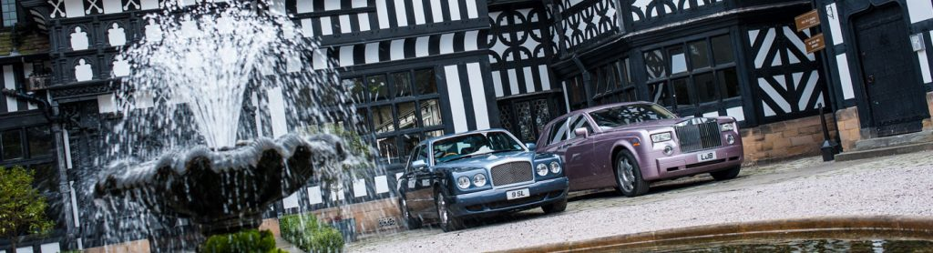 Hillbark Hotel entrance and Rolls Royces parked