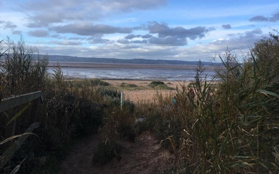 Wirral walks Hillbark Hike Thurstaston Beach